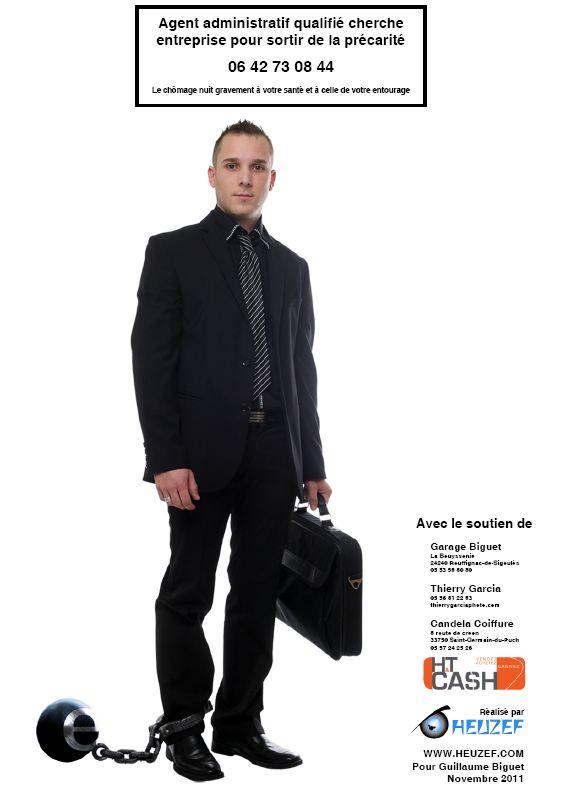 un jeune ch u00f4meur de gironde s u0026 39 affiche pour trouver un job