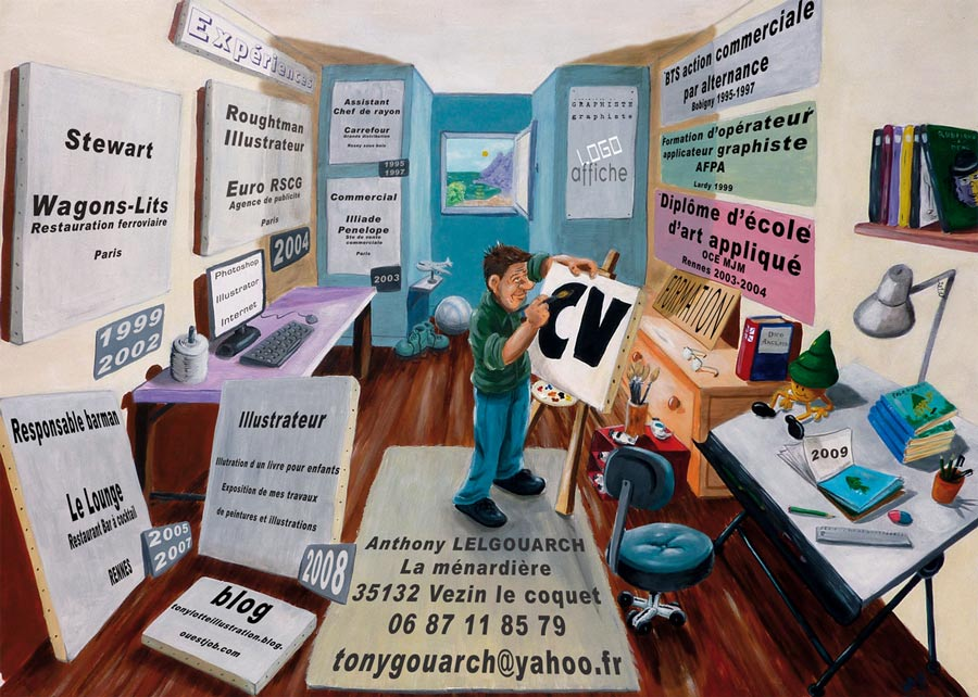 le cv illustr u00e9 d u0026 39 anthony lelgouarch