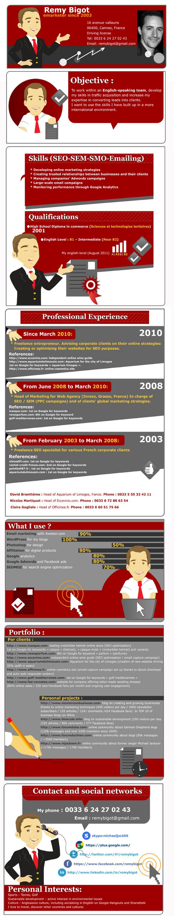 un cv infographie pour trouver un job  u00e0 londres