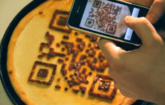 Pizza digitale avec qr code