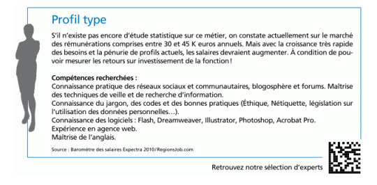 Fiche metier manager