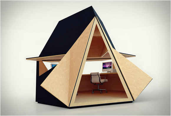 le tetra shed un bureau design et modulable mode s d. Black Bedroom Furniture Sets. Home Design Ideas