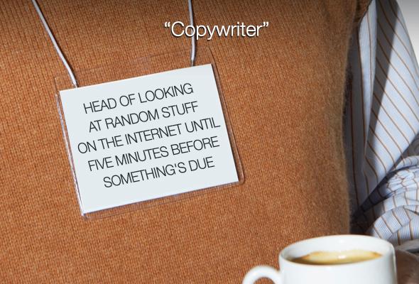 """""""Celui qui cherche des trucs au hasard sur Internet 5 minutes avant de rendre son travail"""""""