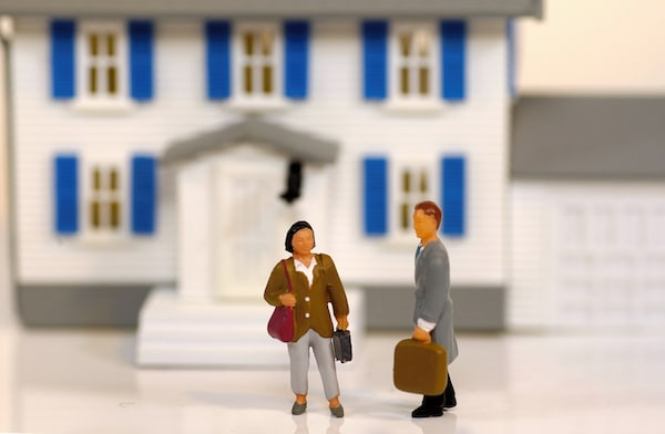 Miniature Realtor and Client