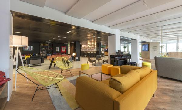 Le lounge de 340 m2