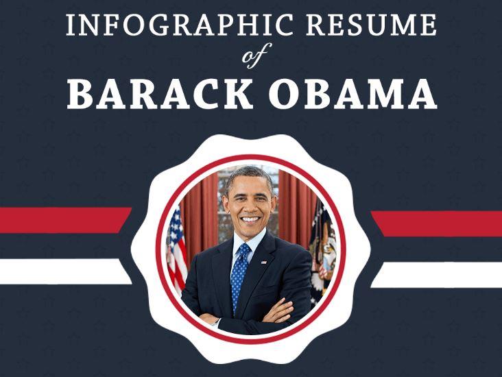 le cv de barack obama en infographie