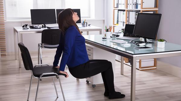 Exercices super faciles pour se muscler au bureau en presque